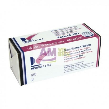 GASAS 5x5cm. NO ESTERIL 40g/m2 -- MEDICALINE