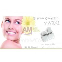 CASO DE BRACKETS ESTETICOS CERAMICO CON RANURA METALICA MARKI ROTH .022 -- KDM