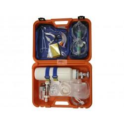 MALETIN REANIMACION CON REG. DE PRESION 15L + BOTELLA OXIGENO 2L (SIN CARGA) -- TECHNOFLUX