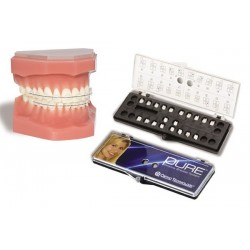 BRACKETS ESTETICOS PURE MBT .022 3-3 SUP. E INF. GANCHO 3 -- ORTHO TECHNOLOGY